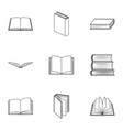 a set of pictures with books books notebooks vector image