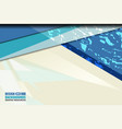 blue shape background grunge vector image