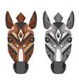 horse head logo decorative emblem vector image