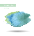 blurred watercolor blue spot on a white background vector image