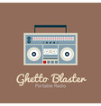 Ghetto Blaster Radio vector image