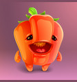 happy pepper icon vector image