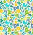 Retro alphabet pattern vector image
