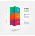 3d tetris blocks infographics step by step vector image vector image
