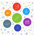 7 draw icons vector image vector image