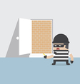 a thief cannot get through safety door vector image vector image