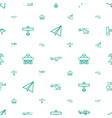 aircraft icons pattern seamless white background vector image vector image