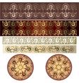 antique border design vector image vector image