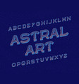 astral art typeface retro font isolated english vector image vector image