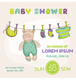 Baby Bear Shower Card vector image vector image