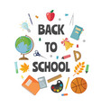 back to school card isolated on white vector image