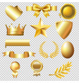 big golden collection vector image vector image