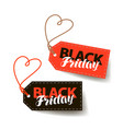 black friday sale tag shopping offer discount vector image