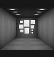 black showroom art gallery empty museum room vector image