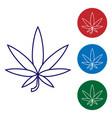 blue medical marijuana or cannabis leaf icon vector image vector image