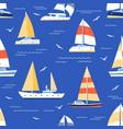 boats seamless pattern summer marine print vector image vector image