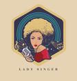 brown skin blonde hair lady singer vector image vector image