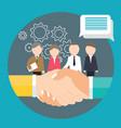 business handshake agreement partnership meeting vector image vector image