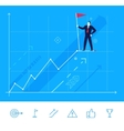 businessman standing vector image