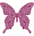 Butterfly curl 03 vector image vector image