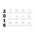 Calendar 2016 year on german language A4 sheet vector image vector image