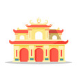 chinese architectural festival building isolated vector image
