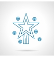 Christmas bauble star thin blue line icon vector image