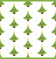 christmas tree chatacters seamless pattern vector image vector image