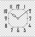 clock face placed on transparent backdrop vector image vector image