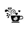 coffee icon cup coffee icon logo for cafe or vector image vector image