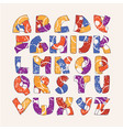 colorful alphabet set with hand drawn letters vector image vector image