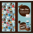 Colorful coffee banners vector image