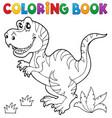 coloring book dinosaur theme 5 vector image vector image