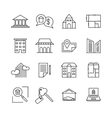 Commercial real estate linear icons Property for vector image vector image