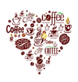Conceptual background with coffee design elements vector image
