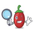 detective goji berries character cartoon vector image vector image