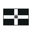Dominican Republic flag monochrome on white vector image