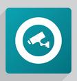 flat security camera icon vector image vector image