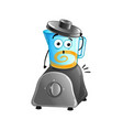 funny kitchen blender cartoon character vector image vector image