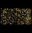 golden glitter star confetti on a black background vector image vector image