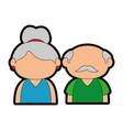 grandparents couple design vector image vector image