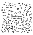 hand drawn set design elements vector image