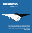 handshake with guns killing business contract vector image vector image