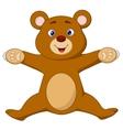 Happy brown bear cartoon jumping vector image vector image