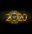 happy new year 2020 luxury greeting card vector image vector image