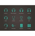 Headphones and speakers icons vector image vector image