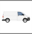 hi-detailed cargo delivery van template vector image vector image