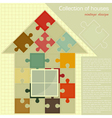 house puzzle vector image vector image