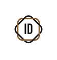 initial letter id elegance logo design template vector image vector image