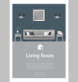 Interior design Modern living room banner 5 vector image vector image